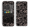 The Black Floral Lace Skin for the Apple iPhone 5c