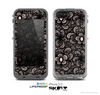 The Black Floral Lace Skin for the Apple iPhone 5c LifeProof Case