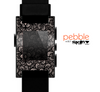 The Black Floral Lace Skin for the Pebble SmartWatch