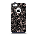 The Black Floral Lace Skin for the iPhone 5c OtterBox Commuter Case