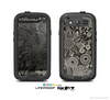 The Black Floral Laced Pattern V2 Skin For The Samsung Galaxy S3 LifeProof Case