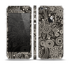 The Black Floral Laced Pattern V2 Skin Set for the Apple iPhone 5
