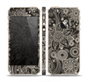 The Black Floral Laced Pattern V2 Skin Set for the Apple iPhone 5s