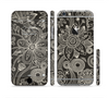 The Black Floral Laced Pattern V2 Sectioned Skin Series for the Apple iPhone 6 Plus