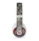 The Black Floral Laced Pattern V2 Skin for the Beats by Dre Studio (2013+ Version) Headphones