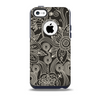 The Black Floral Laced Pattern V2 Skin for the iPhone 5c OtterBox Commuter Case