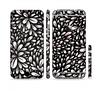 The Black Floral Sprout Sectioned Skin Series for the Apple iPhone 6 Plus