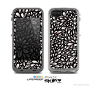 The Black Floral Sprout Skin for the Apple iPhone 5c LifeProof Case