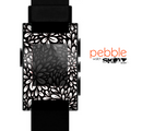 The Black Floral Sprout Skin for the Pebble SmartWatch