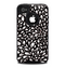 The Black Floral Sprout Skin for the iPhone 4-4s OtterBox Commuter Case