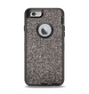 The Black Glitter Ultra Metallic Apple iPhone 6 Otterbox Defender Case Skin Set