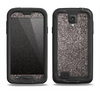 The Black Glitter Ultra Metallic Samsung Galaxy S4 LifeProof Fre Case Skin Set