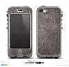 The Black Glitter Ultra Metallic Skin for the iPhone 5c nüüd LifeProof Case