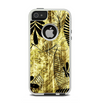 The Black & Gold Grunge Leaf Surface Apple iPhone 5-5s Otterbox Commuter Case Skin Set
