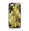 The Black & Gold Grunge Leaf Surface Apple iPhone 5-5s Otterbox Symmetry Case Skin Set
