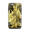 The Black & Gold Grunge Leaf Surface Apple iPhone 6 Plus Otterbox Symmetry Case Skin Set