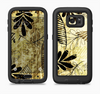The Black & Gold Grunge Leaf Surface Full Body Samsung Galaxy S6 LifeProof Fre Case Skin Kit
