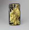 The Black & Gold Grunge Leaf Surface Skin-Sert Case for the Samsung Galaxy S4