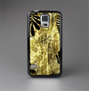 The Black & Gold Grunge Leaf Surface Skin-Sert Case for the Samsung Galaxy S5