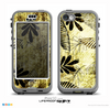 The Black & Gold Grunge Leaf Surface Skin for the iPhone 5c nüüd LifeProof Case