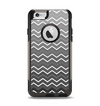 The Black Gradient Layered Chevron Apple iPhone 6 Otterbox Commuter Case Skin Set