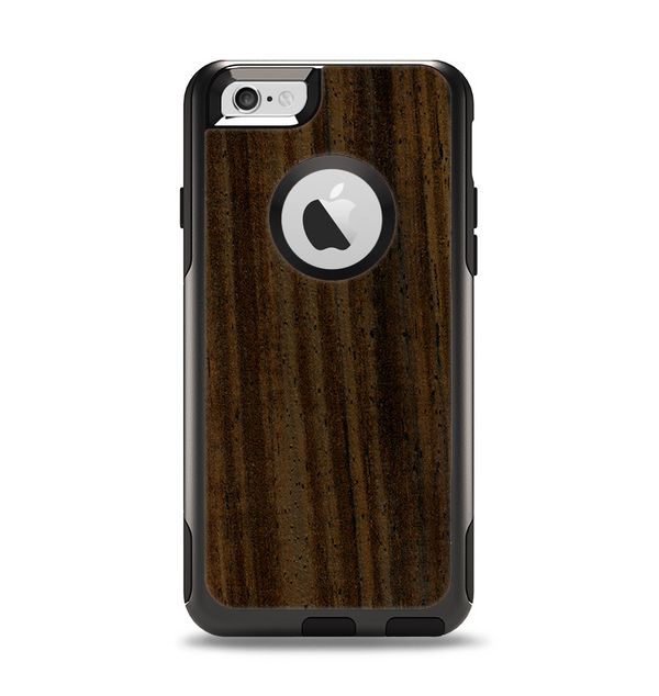 The Black Grained Walnut Wood Apple iPhone 6 Otterbox Commuter Case Skin Set