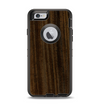 The Black Grained Walnut Wood Apple iPhone 6 Otterbox Defender Case Skin Set