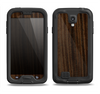 The Black Grained Walnut Wood Samsung Galaxy S4 LifeProof Fre Case Skin Set