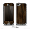 The Black Grained Walnut Wood Skin for the iPhone 5c nüüd LifeProof Case