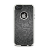 The Black & Gray Dark Lace Floral Apple iPhone 5-5s Otterbox Commuter Case Skin Set
