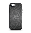 The Black & Gray Dark Lace Floral Apple iPhone 5-5s Otterbox Symmetry Case Skin Set