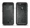 The Black & Gray Dark Lace Floral Apple iPhone 6/6s Plus LifeProof Fre Case Skin Set