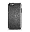The Black & Gray Dark Lace Floral Apple iPhone 6 Plus Otterbox Symmetry Case Skin Set