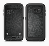 The Black & Gray Dark Lace Floral Full Body Samsung Galaxy S6 LifeProof Fre Case Skin Kit