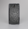 The Black & Gray Dark Lace Floral Skin-Sert Case for the Samsung Galaxy Note 3