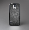 The Black & Gray Dark Lace Floral Skin-Sert Case for the Samsung Galaxy S5