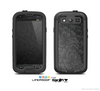 The Black & Gray Dark Lace Floral Skin For The Samsung Galaxy S3 LifeProof Case