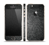 The Black & Gray Dark Lace Floral Skin Set for the Apple iPhone 5s