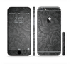 The Black & Gray Dark Lace Floral Sectioned Skin Series for the Apple iPhone 6