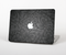 The Black & Gray Dark Lace Floral Skin Set for the Apple MacBook Air 11""