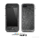 The Black & Gray Dark Lace Floral Skin for the Apple iPhone 5c LifeProof Case