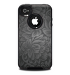 The Black & Gray Dark Lace Floral Skin for the iPhone 4-4s OtterBox Commuter Case