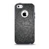 The Black & Gray Dark Lace Floral Skin for the iPhone 5c OtterBox Commuter Case