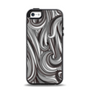 The Black & Gray Monochrome Pattern Apple iPhone 5-5s Otterbox Symmetry Case Skin Set