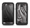 The Black & Gray Monochrome Pattern Samsung Galaxy S4 LifeProof Nuud Case Skin Set