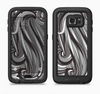 The Black & Gray Monochrome Pattern Full Body Samsung Galaxy S6 LifeProof Fre Case Skin Kit