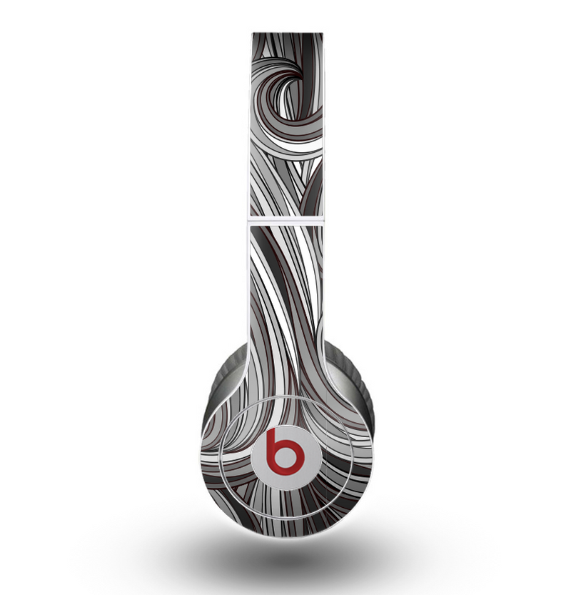 The Black & Gray Monochrome Pattern Skin for the Beats by Dre Original Solo-Solo HD Headphones