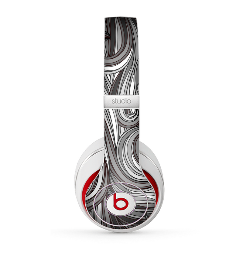 The Black & Gray Monochrome Pattern Skin for the Beats by Dre Studio (2013+ Version) Headphones