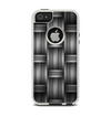 The Black & Gray Woven HD Pattern Apple iPhone 5-5s Otterbox Commuter Case Skin Set