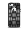 The Black & Gray Woven HD Pattern Apple iPhone 5-5s Otterbox Defender Case Skin Set